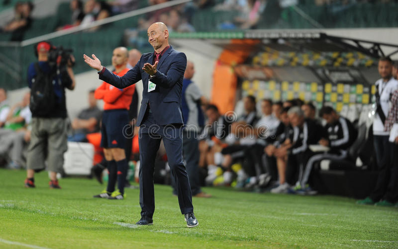 Legia Varsovia - FC Botosani - calificaciones de la liga del Europa imágenes de archivo libres de regalías