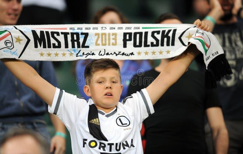 Legia Warsaw - FC Botosani - Europa League Qualifications. WARSAW, POLAND - JULY 16, 2015: Europa League Qualifications 2-nd round Legia Warsaw Poland - FC stock photos
