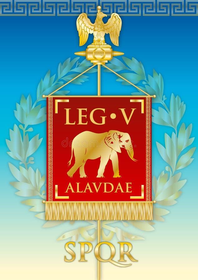 Legio V Alaudae emblemtecken, Roman Empire vektor illustrationer