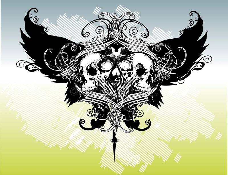 Download Legion Of Skulls Vector Illustration Stock Vector - Image: 4960858