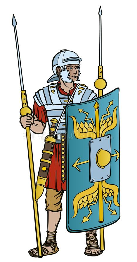 Legionnaire w pełnej przekładni ilustracji