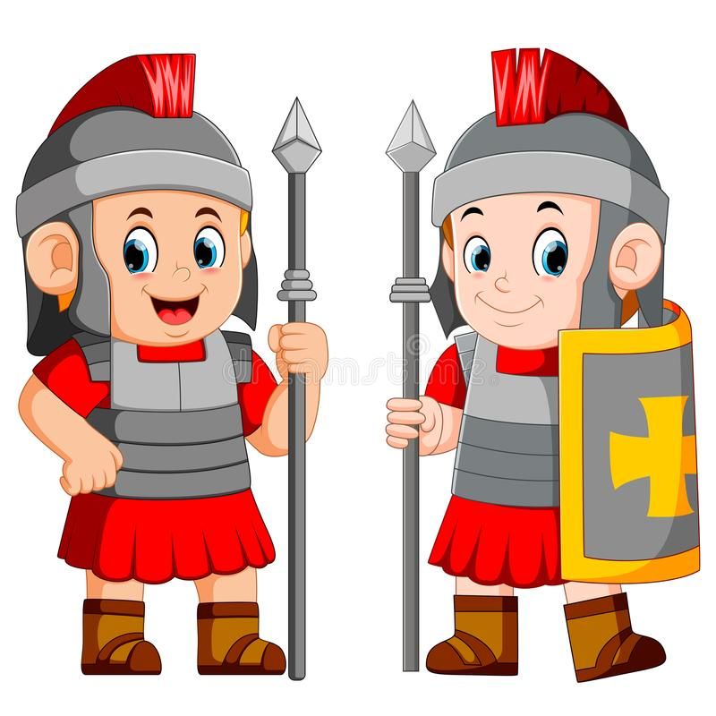 Legionowy żołnierz imperium rzymskie ilustracji
