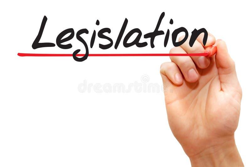 Legislación de la escritura de la mano, concepto del negocio fotos de archivo libres de regalías