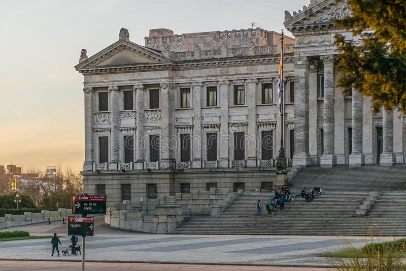 Legislative Palace of Uruguay in Montevideo stock images