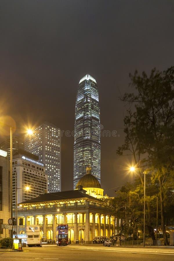 Legislativrat-Gebäude (altes Oberstes Gericht) in Hong Kong stockbilder