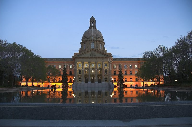 Legislatura de Alberta imagem de stock royalty free