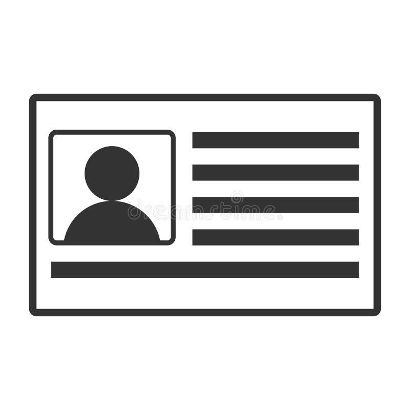 legitimationkortsymbol vektor illustrationer