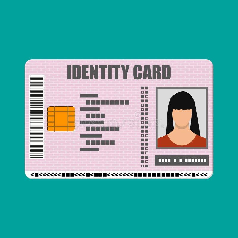 legitimationkortsymbol Identitetskort, nationellt ID-kort royaltyfri illustrationer
