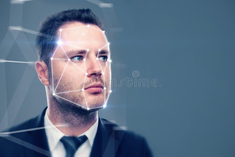 Legitimations- och scanningbegrepp arkivfoto