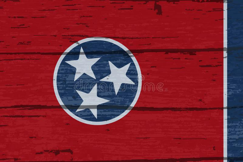 Legname di Tennessee State Flag On Old royalty illustrazione gratis