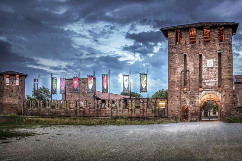 Legnano Castello Visconteo obrazy stock