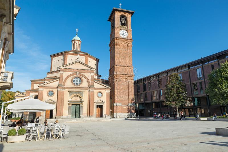 Historic center of Legnano and square San Magno, Italy royalty free stock images
