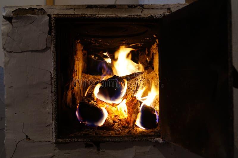 Legno Burning fotografie stock libere da diritti