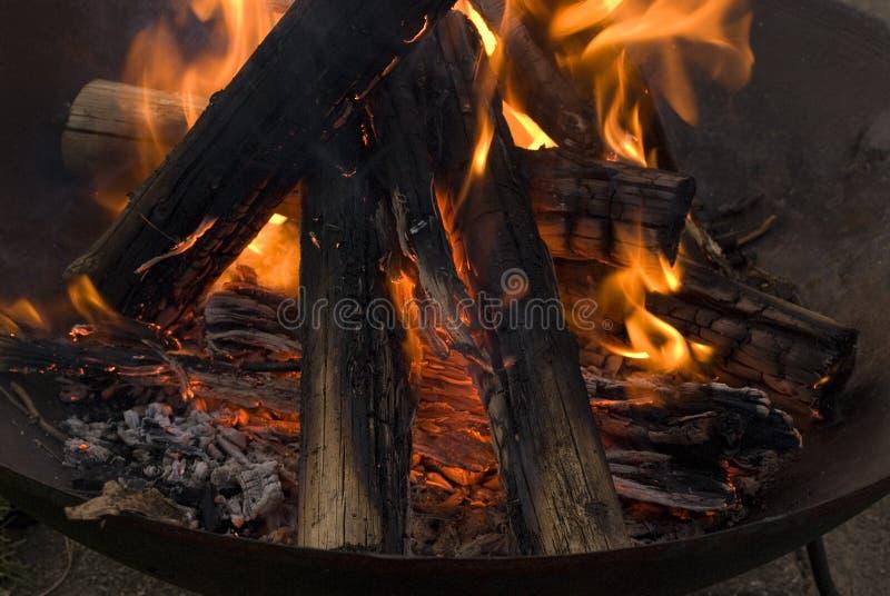 Download Legno che brucia in fuoco fotografia stock. Immagine di fuoco - 3894990