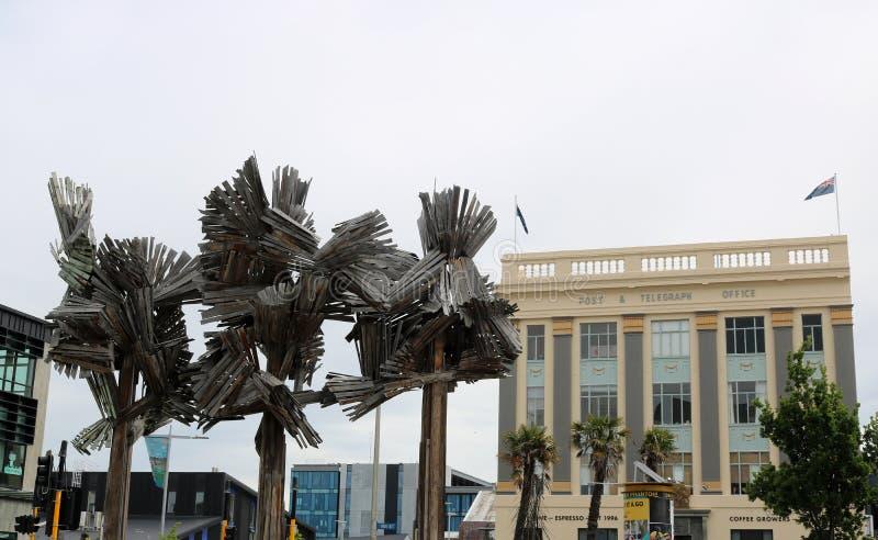 Legno dagli alberi, materiale illustrativo a Christchurch, NZ fotografia stock