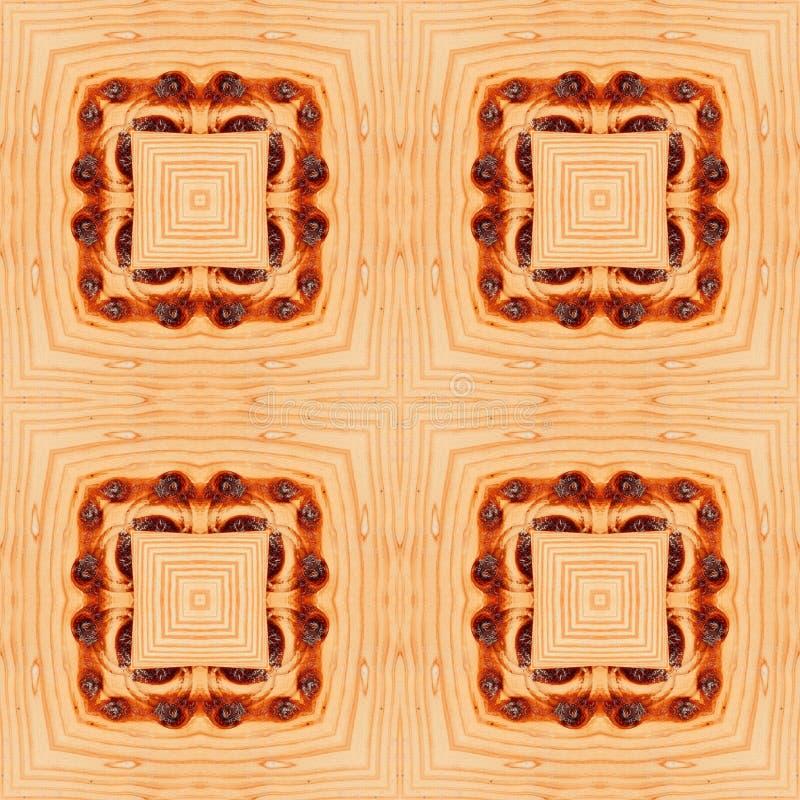 Legno del pavimento di struttura del modello del parquet Quercia di Brown illustrazione vettoriale