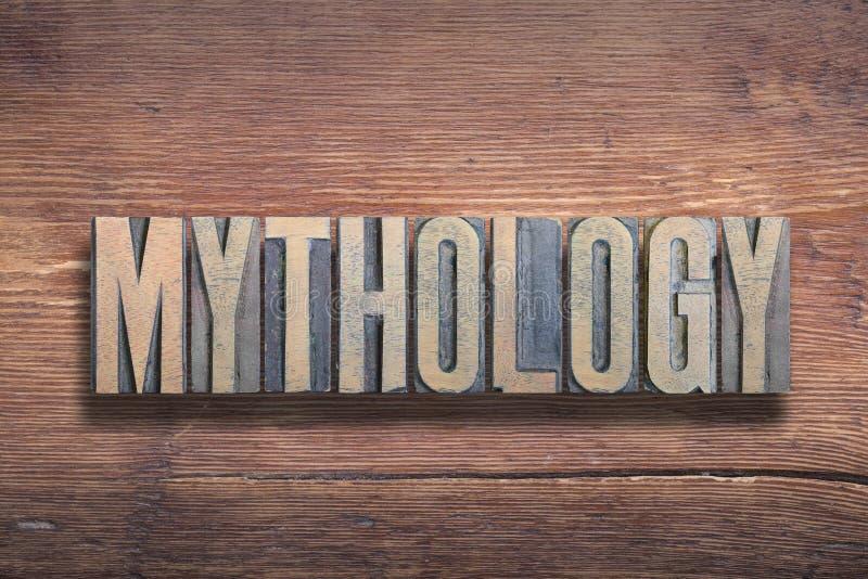 Legno delle lettere di mitologia immagini stock