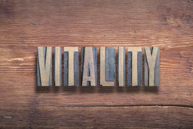 Legno delle lettere di vitalità immagine stock