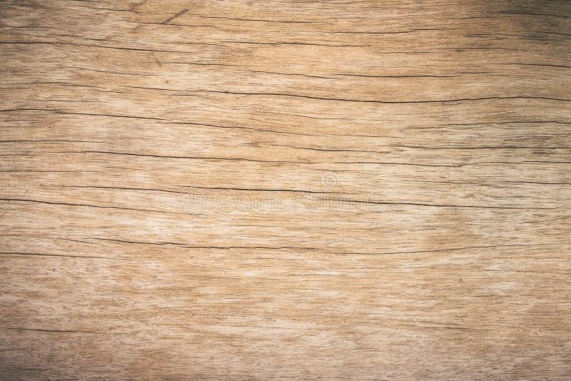 Legno di marrone di vista superiore con la crepa, fondo di legno strutturato scuro di vecchio lerciume, la superficie di vecchia  fotografia stock