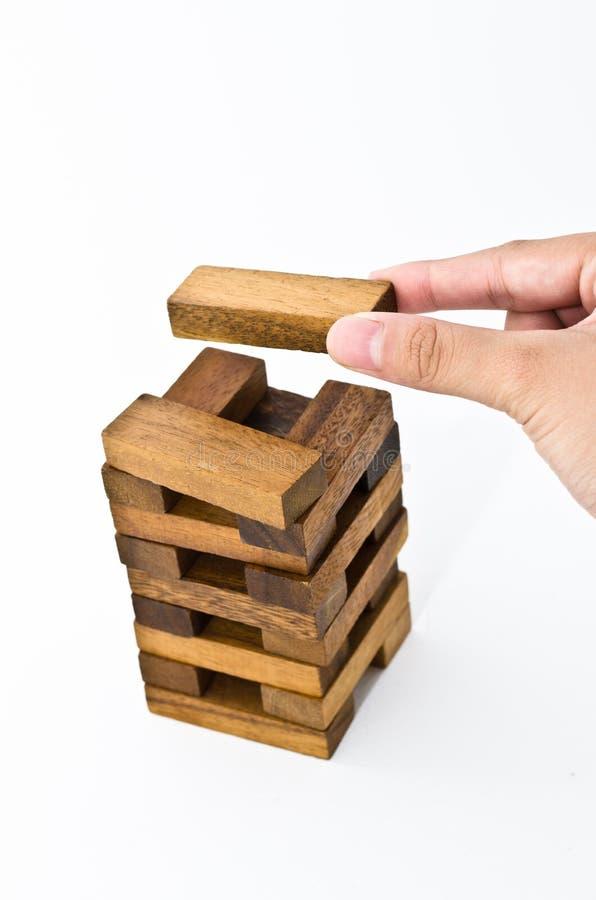 Legno di puzzle della costruzione immagini stock libere da diritti