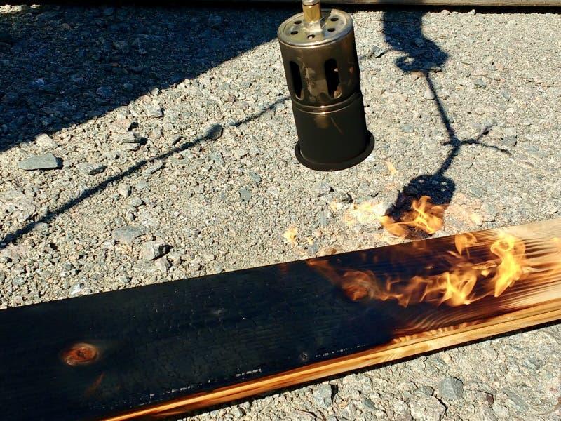 Legno nero da fuoco immagini stock libere da diritti
