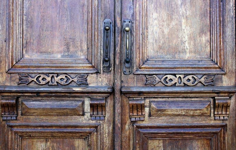 Legno, porta, superficie decorativa, sollievo, via, natura, fondo fotografia stock libera da diritti