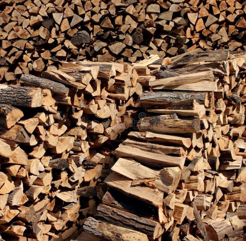 Legno tagliato del fuoco fotografia stock