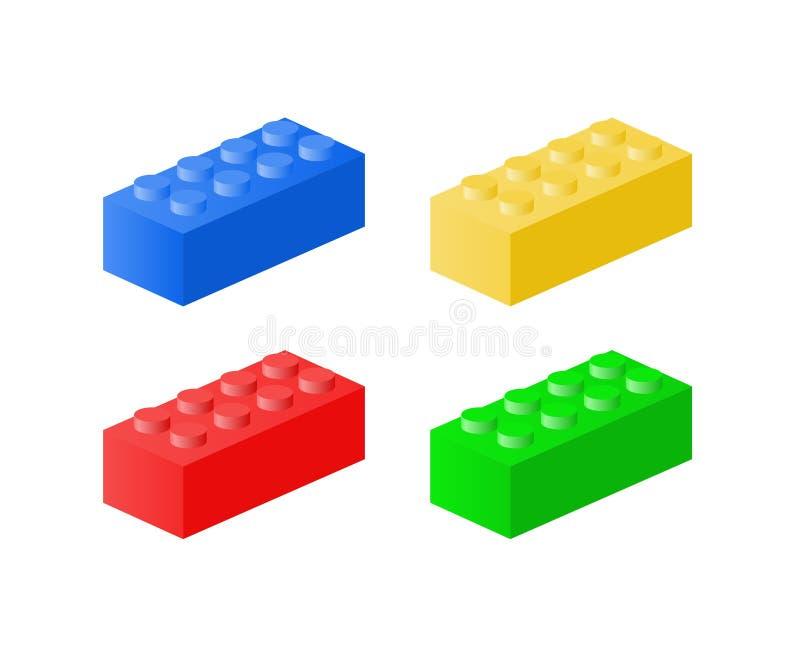Lego砖 向量例证