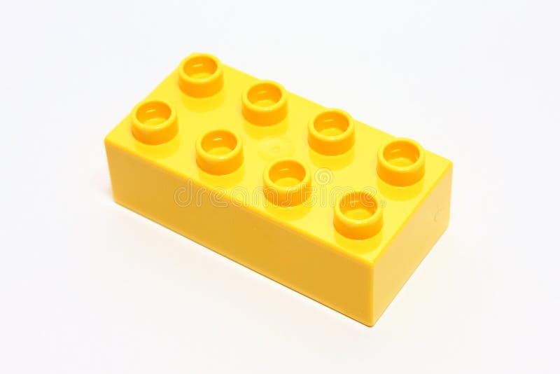 lego κίτρινο στοκ εικόνα