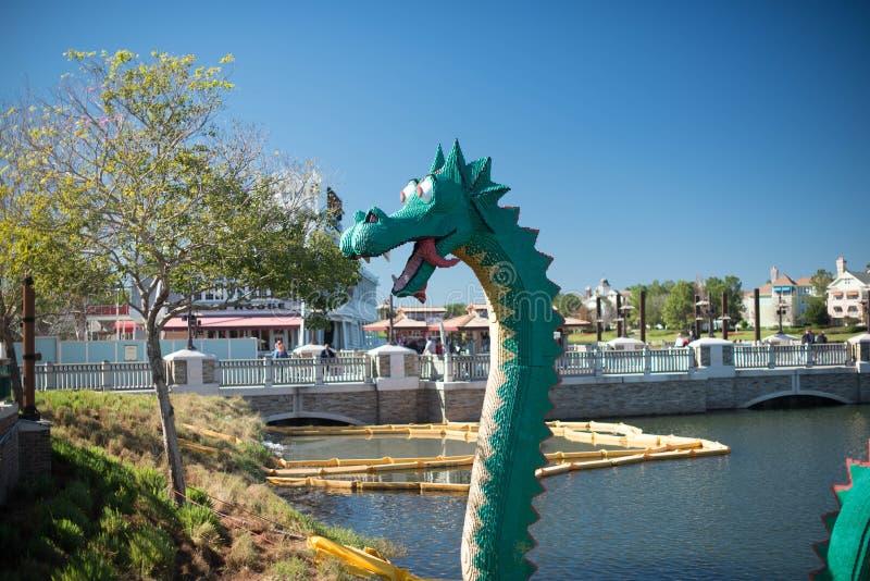 Lego στη στο κέντρο της πόλης Disney στο Ορλάντο Φλώριδα στοκ φωτογραφίες με δικαίωμα ελεύθερης χρήσης