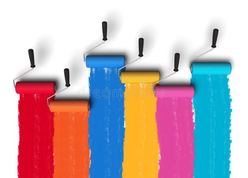 lego χεριών δημιουργικότητας έννοιας οικοδόμησης επάνω στον τοίχο διανυσματική απεικόνιση