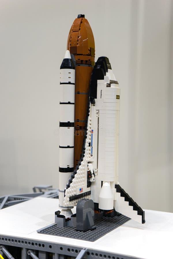 Lego космического летательного аппарата многоразового использования стоковые изображения