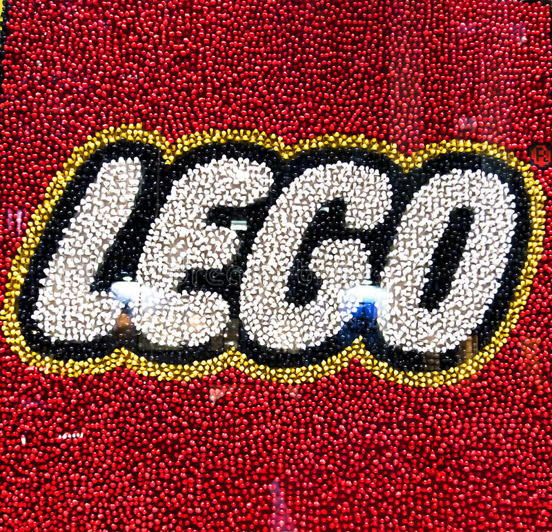 Lego. Store window with logo Lego in New York City. Photo taken on Jan 30th,2011 stock photography