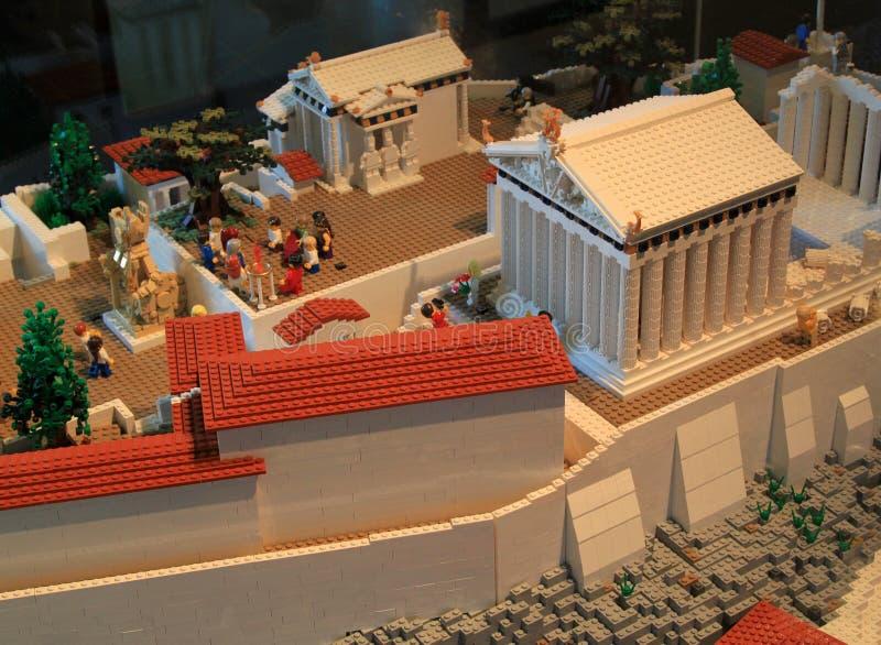 Lego Acropolis fotografia stock libera da diritti