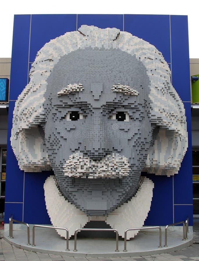 Lego Albert Einstein em Legoland foto de stock royalty free