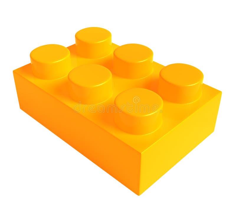 Lego amarelo ilustração do vetor