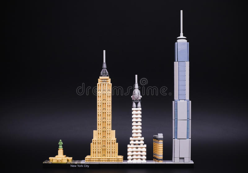 Lego Architecture Skyline model - New York City stock photo