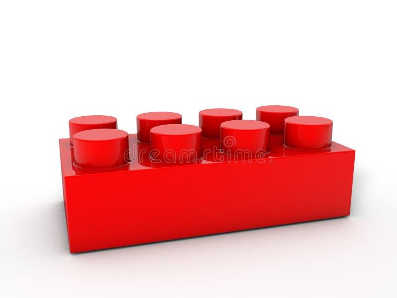 Lego block red vector illustration