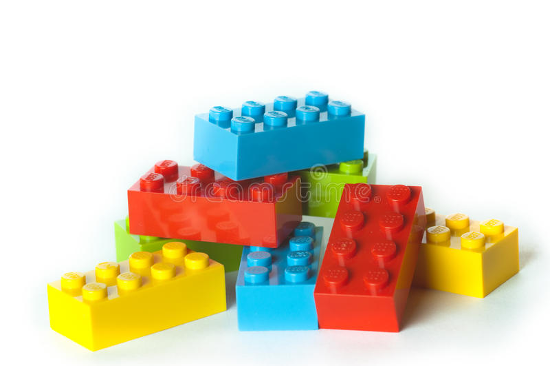 Lego bloki obraz royalty free