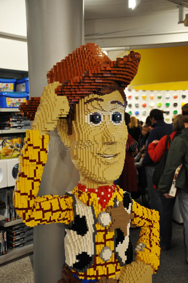 Lego boscoso in Disney del centro fotografie stock