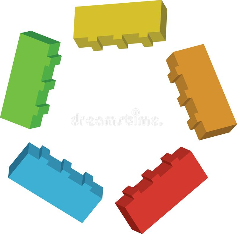 Lego Brick-Polygon stock abbildung