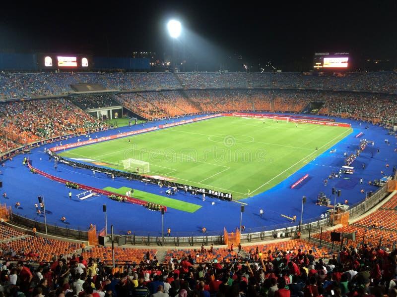 Cairo International Stadium. African Cup match South africa 1 vs 2 Nigeria royalty free stock photo