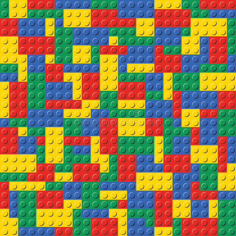 Lego Brick Seamless Background Pattern vector illustration