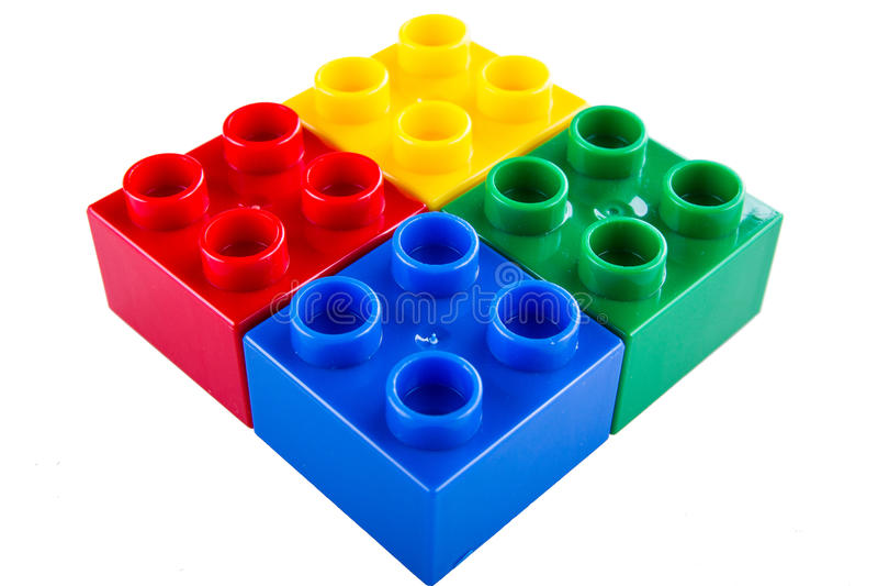 Lego byggande kvarter royaltyfria bilder