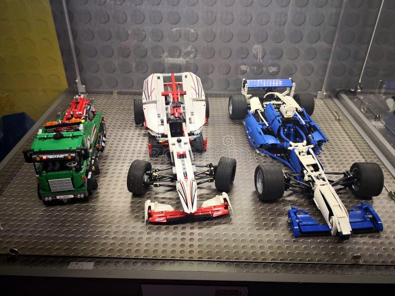Lego Cars - Lego Exhibition Invasion de Giants fotografía de archivo
