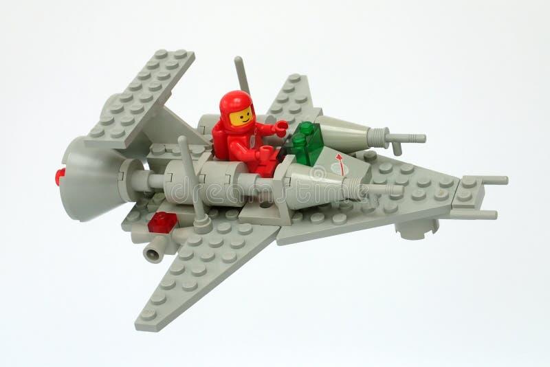 Lego Classic Space ajustou-se nenhum 6861, ofício de patrulha X1 fotografia de stock