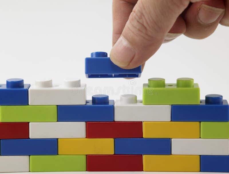 Lego coloré image libre de droits