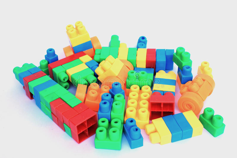Lego colorido imagem de stock royalty free