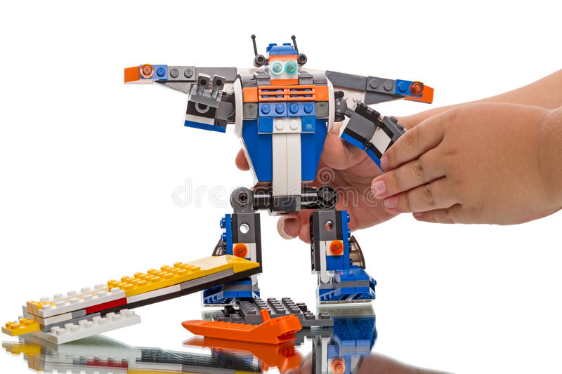 Download LEGO Creator - robot editorial photography. Image of multi - 44363672