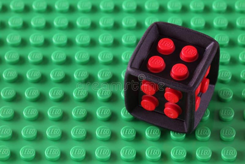Lego Cube royalty-vrije stock foto's